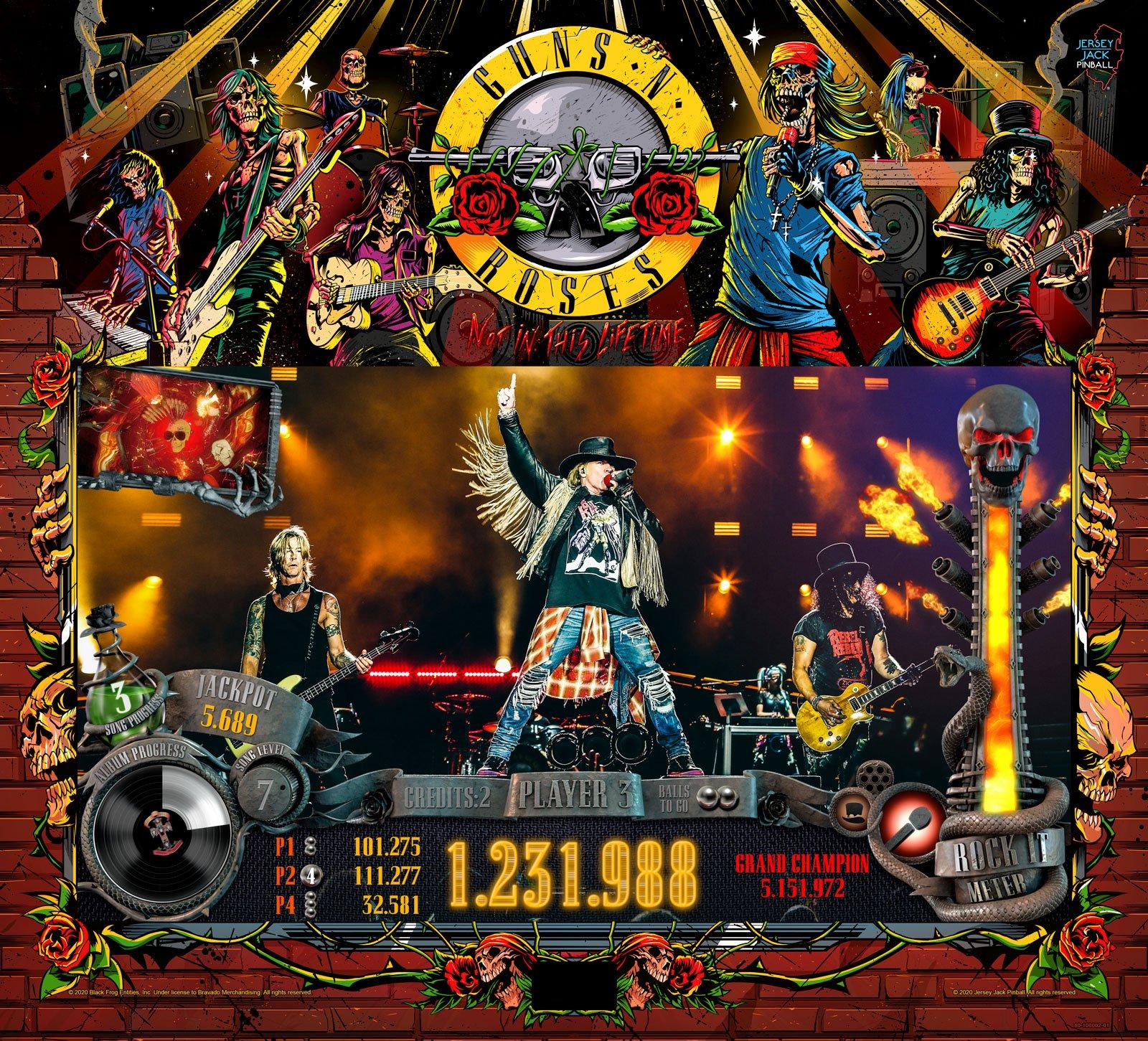 Guns N Roses von Jersey Jack Pinball