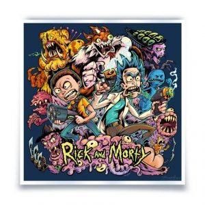 Print – Rick and Morty (Brian Allen) – 11″x11″